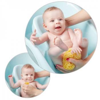 Baignoire bébé avec réducteur intégré vert + tuyau