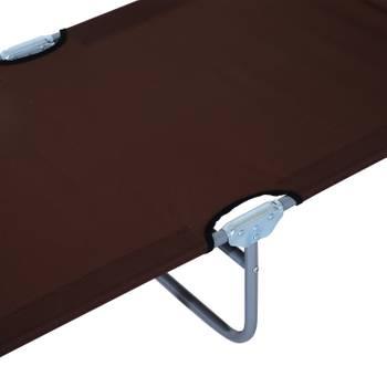 Transat bain de soleil pliable grand confort dossier et pare-soleil réglable multi-positions chocola