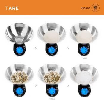 Duronic KS760 Balance de Cuisine numérique au design fin en acier inoxydable - 5 kg