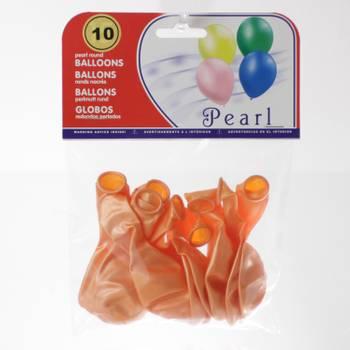 10 ballons gonflables nacrés - orange