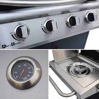 Barbecue au gaz Albert cuisine extérieure 4 brûleurs + feu latéral avec thermomètre