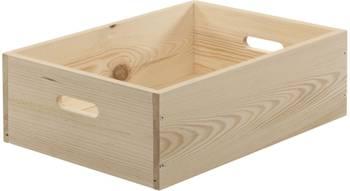 Caisse en bois brut de rangement Taille 2