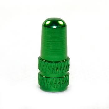 Bouchon de valve vélo vert 2 pcs presta aluminium alliage pneu caps