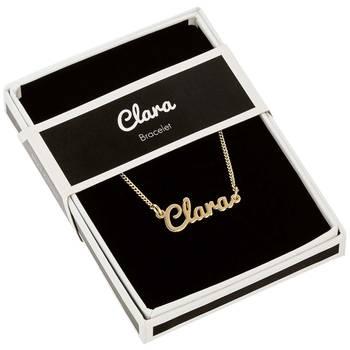 Bracelet dore prenom clara