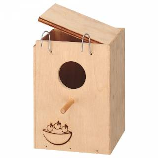 Nid en bois pour oiseaux - ferplast - s