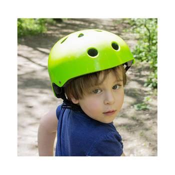Safety casque vélo ski skateboard roller enfant réglable vert