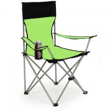 Lot de 2 chaises pliante camping + housse verte 2008039 Helloshop26