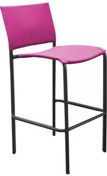 Chaise de bar en acier et toile globe (lot de 4)