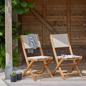 Salon de jardin en bois d\'acacia FSC 2 places