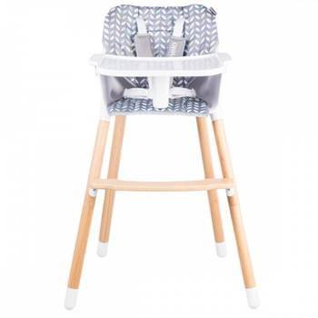 Koen chaise haute en bois style scandinave et évolutive jaune