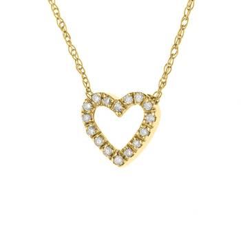 Collier Véritables Diamants de 0,07 Carats et Or
