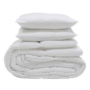 Pack couette Microfibre douce et chaude 400g/m² +  1 oreiller doux et moelleux 60x60cm 600g.
