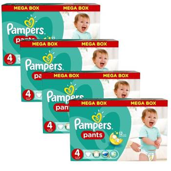Giga pack 470 couches pampers baby dry pants taille 4
