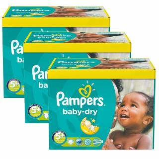 Maxi pack 308 couches pampers baby dry taille 5+