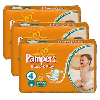 Mega pack 180 couches pampers sleep & play taille 4