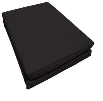 Drap plat point bourdon 240 x 300 cm noir