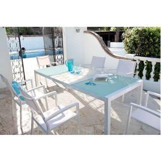 Ensemble pièces chaises repas mykonos 7 table6 DEHW29IY