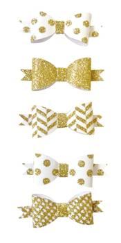 Noeud papillon adhésif doré 5,5 x 2 cm 5 pièces - graine créative