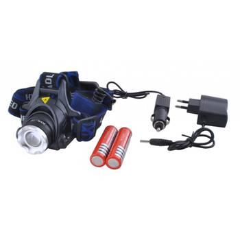Lampe frontale LED lampe de poche avec zoom      Noir