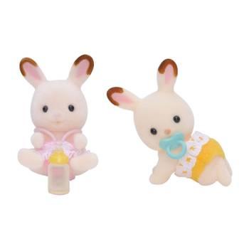 Sylvanian 3216 : Bébés jumeaux lapins chocolat