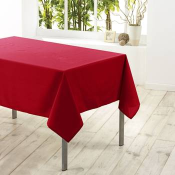 Nappe rectangle polyester Rouge 140 x 300 cm