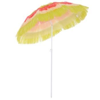 Parasol design Hawaï multicolore Ø 160 cm