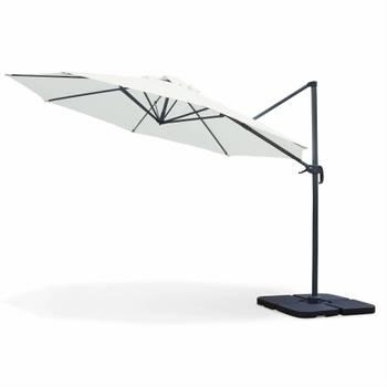 Parasol déporté rond Biscarosse ⌀350cm Ecru excentré inclinable rotatif à 360°