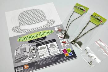 Kit Plastique Dingue Bijoux Collier Moustache - Plastique dingue