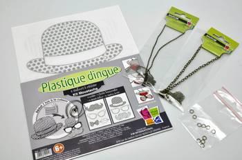Kit plastique dingue bijoux moustache