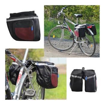 Double sacoche vélo grande capacité sac      Gris