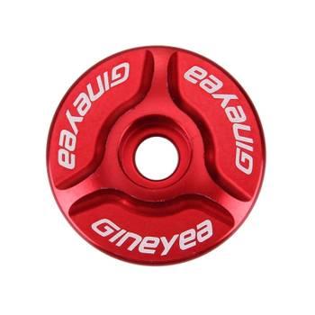 Bouchon de potence rouge chapeau de vélo de cnc en aluminium de bicyclette