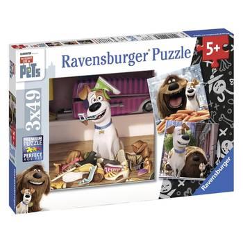 Puzzle 3 x 49 pièces : Comme des bêtes - Amusement maison