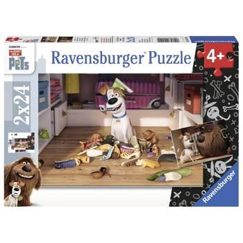 Puzzle 2 x 24 pièces : Tempête libre - Comme des bêtes