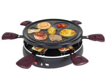 Appareil à raclette 6 personnes 800w + grill + crêpière - kalorik - rac1008cs