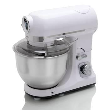 robot multifonctions 5l 1000w blanc avec hachoir et blender 1,5l en verre - robby - robimix blanc