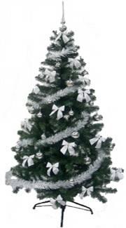 Sapin artificiel décoré blanc 1m80