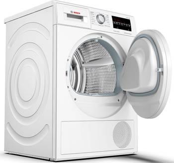 Sèche-linge pompe à chaleur avec condenseur 60cm 8kg a+++ blanc - bosch - wtw84460ff