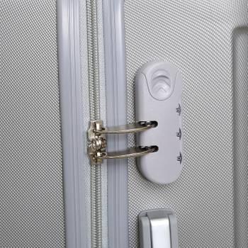 Set de 3 valises à roulettes grises - robby - trotter case one gris