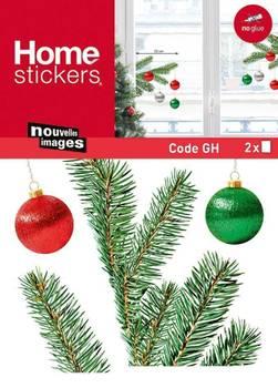 Sticker fenêtre branches de sapin