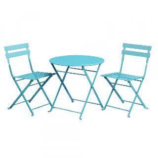 Table et chaises de jardin bleu pour enfants