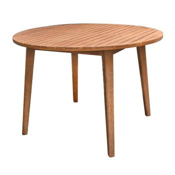 Table de jardin ronde 110cm en bois d\'acacia murcia