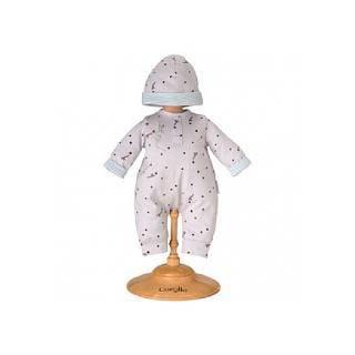 BB30 Pyjama Gris Etoilé et Bonnet