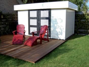 Abri jardin bois \malmö\ - 14.71 m² - 4.32 x 3.40 x 2.25 m - 28 mm
