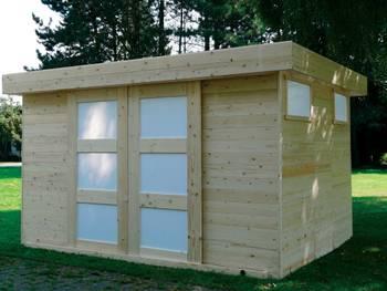 Abri jardin \sjobo\ - 10.49 m² - 3.62 x 2.89 x 2.07 m - 19 mm