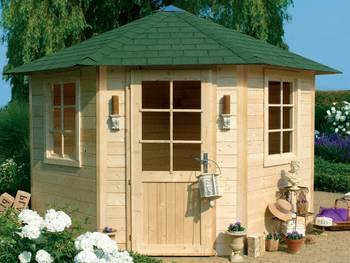 Abri jardin bois \nancy i\ - 7.85 m² - 4.23 x 2.98 x 2.74 m - 28 mm