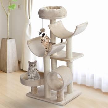 Arbre à chats multi-équipements beige