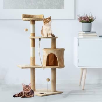 Arbre à chats multi équipements beige