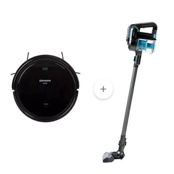 Pack  robot aspirateur drv50 + aspirateur balai dhv50 one