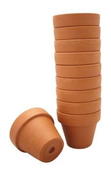 Pots de fleurs en terre cuite Ø8,5 cm 10 pièces - Graine créative