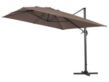 Parasol jardin déporté alu \sun 4\ - rectangle - 3 x 4 m - taupe